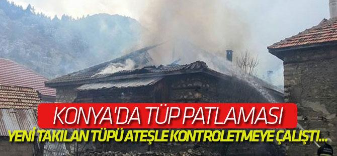 Konya'da tüp patlaması