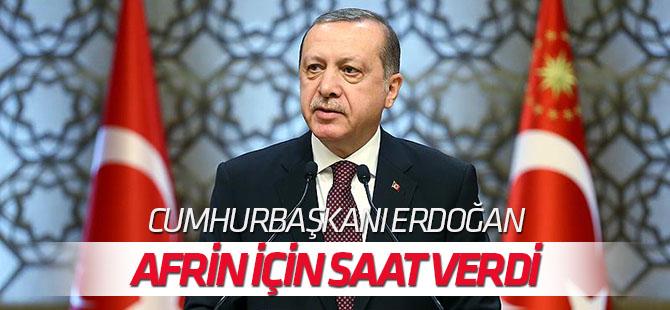 Cumhurbaşkanı Erdoğan: Temenni ederim akşama kadar Afrin düşmüş olur