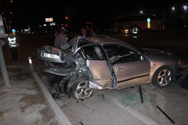 Karapınar'da trafik kazası: 4 yaralı