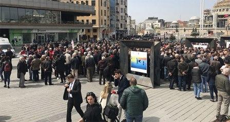 Taksim'de yoğun güvenlik önlemleri! Taksim'e çıkan yollar kapatıldı
