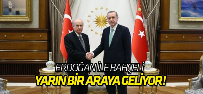 Erdoğan ile Bahçeli yarın bir araya geliyor!