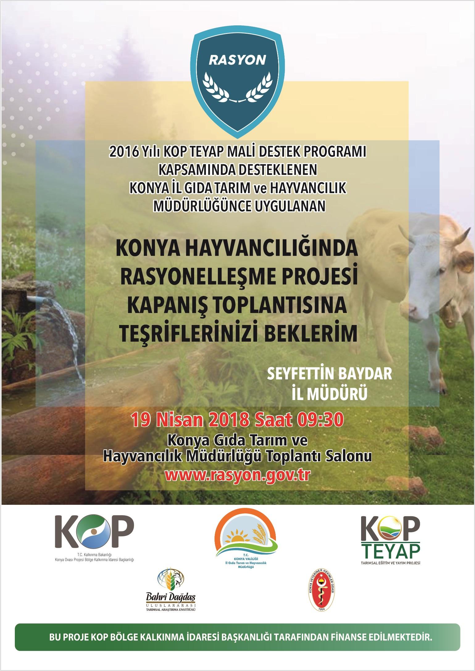 Konya Hayvancılığında verilik projesi başlıyor