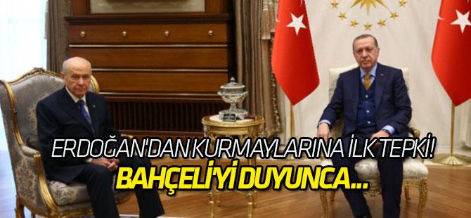 Erdoğan'dan kurmaylarına ilk tepki!