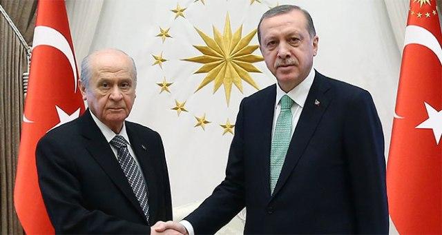Cumhurbaşkanı Erdoğan, MHP Lideri Bahçeli'yi kabul etti!