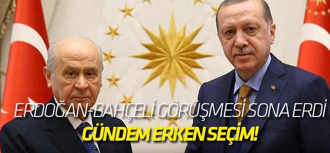 Erdoğan-Bahçeli görüşmesi gerçekleşti