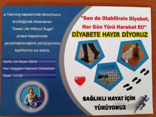 Diyabete hayır yürüyüşü