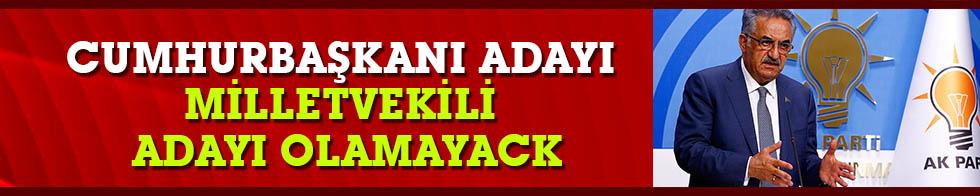 AK Parti Genel Başkan Yardımcısı Yazıcı: Cumhurbaşkanı adayı milletvekili adayı olamayacak