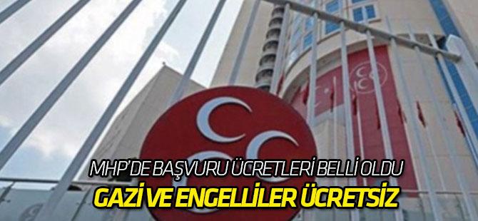 MHP milletvekili aday adaylığı ücretini açıkladı!