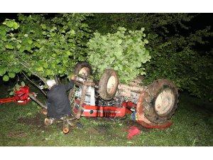 Düzce'de traktör devrildi: 1 ölü