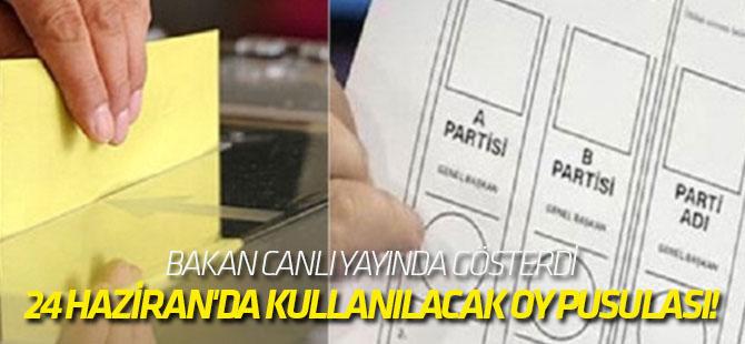 İşte 24 Haziran'da kullanılacak oy pusulası!