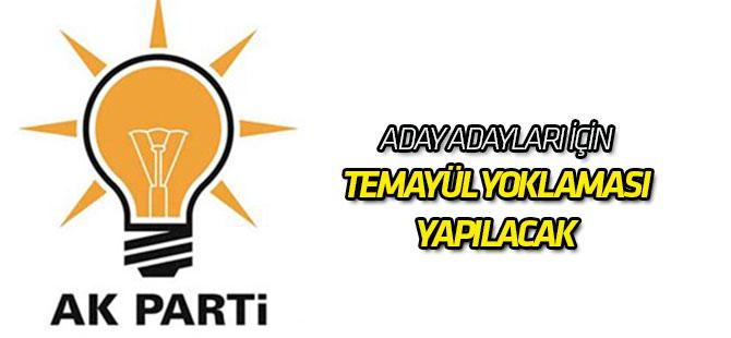 AK Parti'de adaylara temayül yoklaması yapılacak