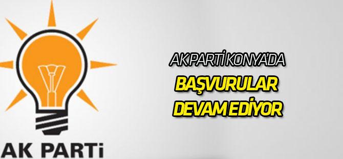 AK Parti Konya'da başvurular devam ediyor