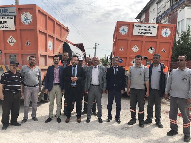 Çumra'da 2018 yılı asfalt sezonu açıldı