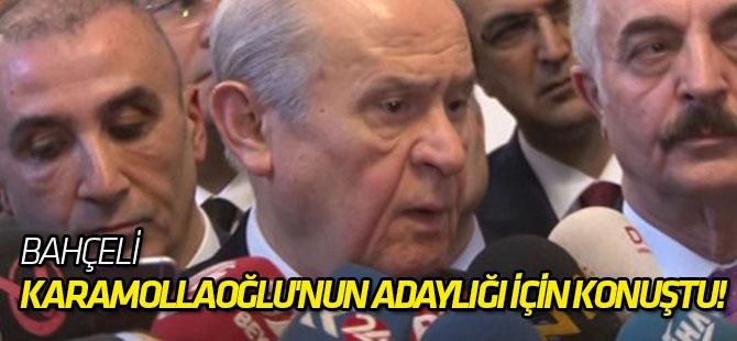 Bahçeli, Karamollaoğlu'nun adaylığı için konuştu!
