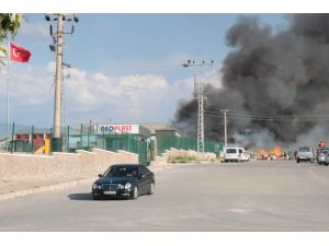 Kırşehir'de iş yeri yangını
