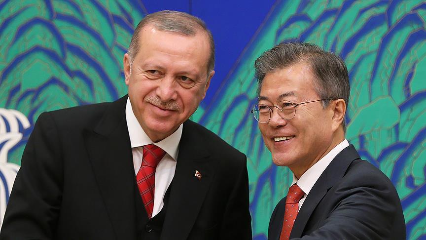 """Cumhurbaşkanı Erdoğan'dan Güney Kore'de """"Kanal İstanbul"""" açıklaması"""