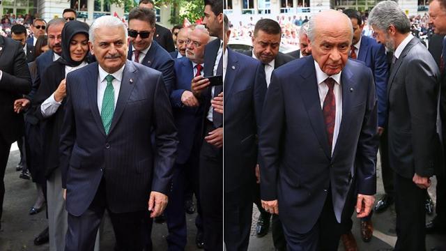 Yıldırım ile Bahçeli, Erdoğan'ın adaylığı için YSK'ye başvurdu