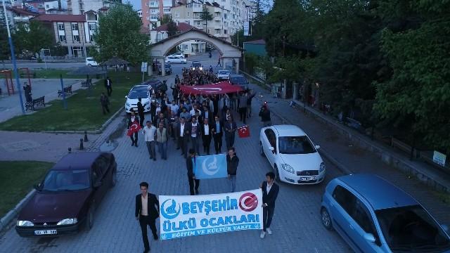 """Beyşehir'de """"Türkçülük"""" yürüyüşü"""