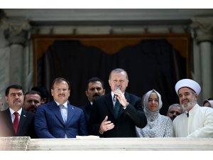 Restorasyonu tamamlanan Nusretiye Camisi açılış töreni