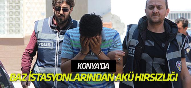 Konya'da baz istasyonlarından akü hırsızlığı