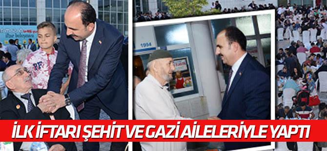 Başkan Altay ilk iftarı şehit ve gazi  aileleriyle yaptı