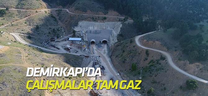 Konya-Antalya yolunda çalışmalar sürüyor