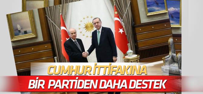 Cumhur İttifakı'na bir parti daha destek verdi!