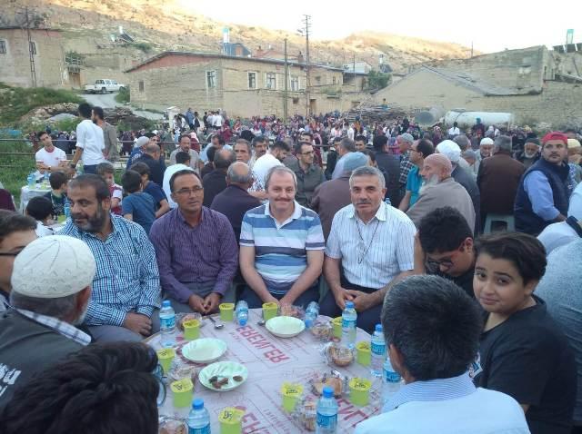 Küçükmuhsine Köyünde iftar yemeği bir başka