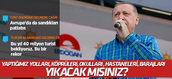 Erdoğan AK Parti'nin Muğla mitinginde konuştu