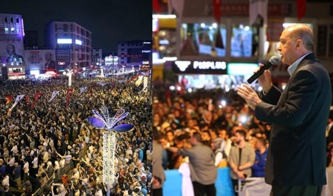 Erdoğan ve yüz binler mazlumlar için dua etti!
