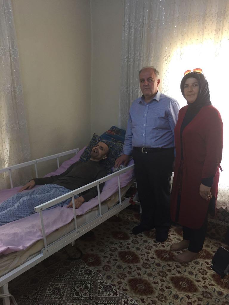 Altınok'a hasta yatağı teslim edildi