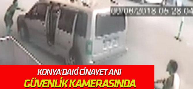 Konya'daki silahlı kavga güvenlik kamerasında