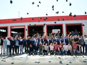 Geleceğin İtfaiyecileri mezuniyet sevinci yaşadı