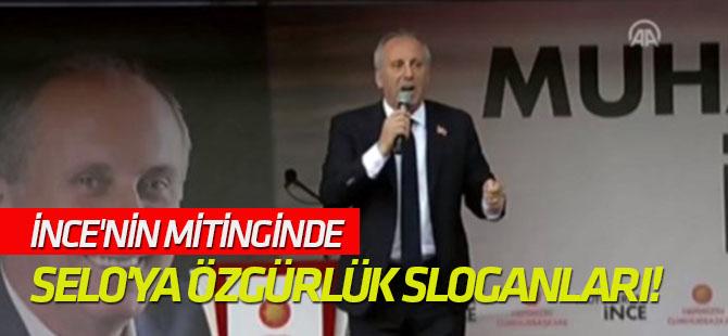 İnce'nin mitinginde Selo'ya özgürlük sloganları!