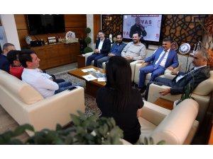 Vali Gül ve Başkan Aydın'a ziyaret