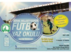 Sivas Belediyespor, futbol yaz okulu açacak