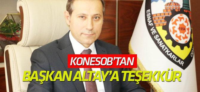 KONESOB'dan Başkan Altay'a teşekkür
