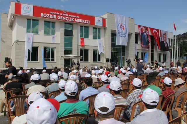 Bozkır Gençlik Merkezi hizmete açıldı