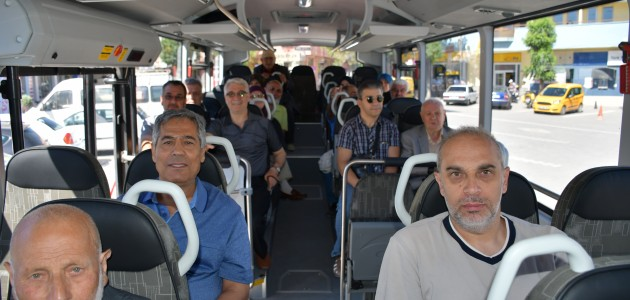 Otobüsle Konya'ya oy kullanmak için geldiler