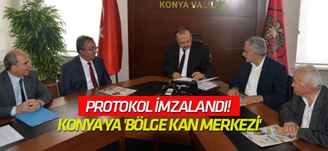 Protokol imzalandı! Konya'ya 'bölge kan merkezi'