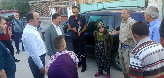 Başkan Altay, yağışta evleri zarar gören vatandaşları ziyaret etti