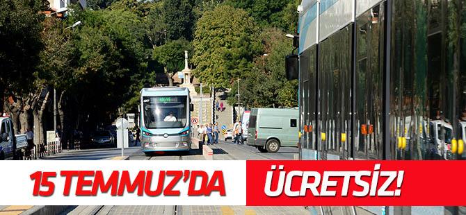 """Konya'da 15 Temmuz'da """"16.00-06.00"""" arası  toplu ulaşım ücretsiz"""