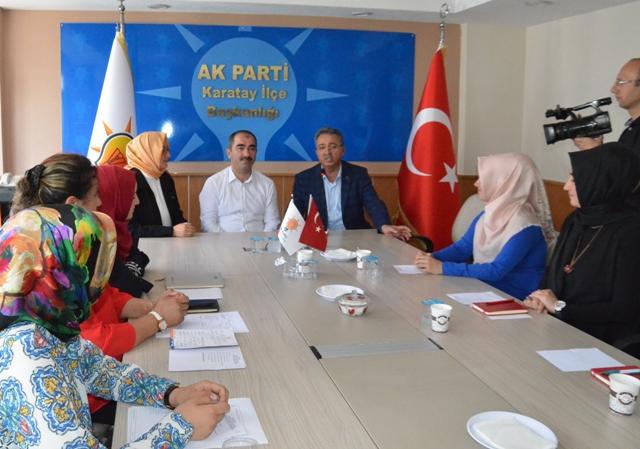 Başkan Hançerli'den Ak Parti Karatay İlçe Teşkilatına Ziyaret