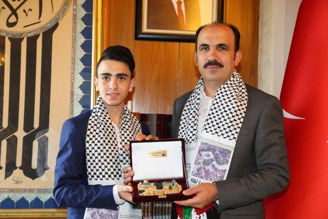 Kudüs Direnişinin Sembol İsmi Cüneydi Başkan Altay'ı Ziyaret Etti
