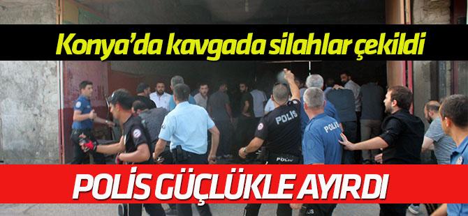 Konya'da iki grup arasındaki kavgada silahlar çekildi! Çevik Kuvvet sevkedildi