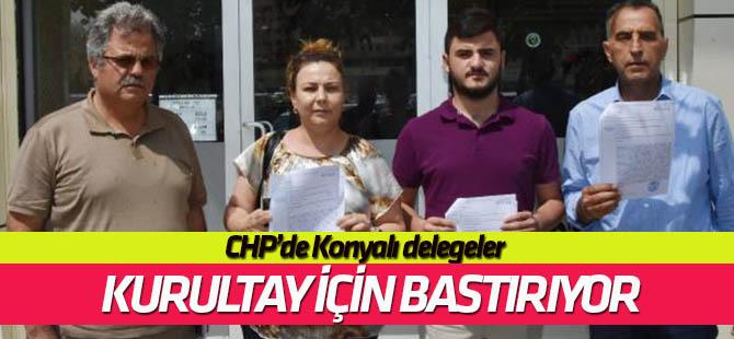 Konya'da CHP delegeleri  olağanüstü kurultay için bastırıyor