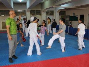 Yaz Spor Okullarında  taekwondo çalışmaları tam gaz
