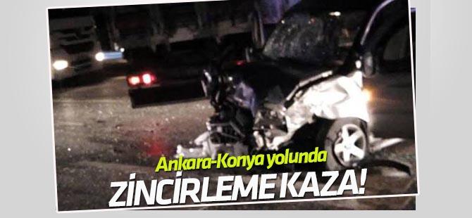 Ankara-Konya yolunda zincirleme trafik kazası: 1 ölü, 8 yaralı