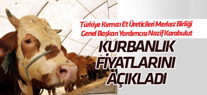 """Türkiye Kırmızı Et Üreticileri Merkez Birliği """"Kurbanlık"""" fiyatlarını açıkladı"""