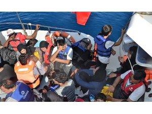 Lastik bota ölüm yolculuğuna sahil güvenlik engeli